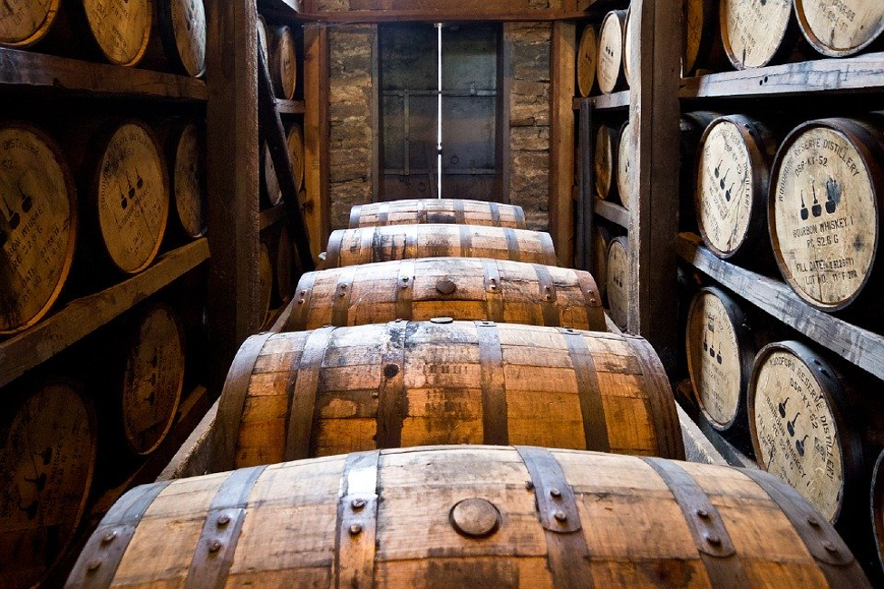 Distillery Barrels, Wooden Kegs, Bourbon, Whiskey